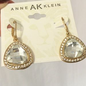 Anne Klein Goldtone Crystal Drop Earrings